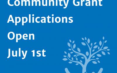 Community Grants Applications Now Open